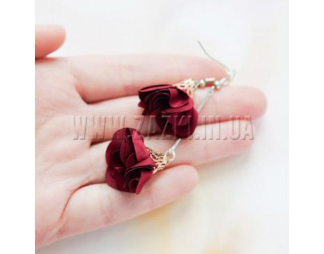"""Сережки """"Троянда"""""""