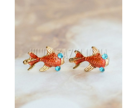 "Серьги ""Gold fish"""